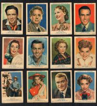 TRADE  cards set 1953 Movie Film Stars, Burton, Taylor, Autrey,etc